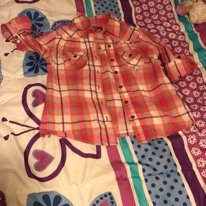Arizona flannel shirt size 6/7 lil girls.
